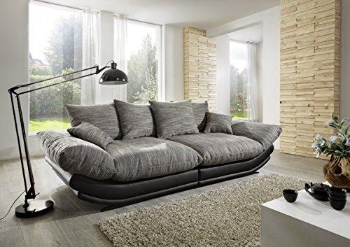 Dreams4Home Megasofa 'Rosi' - Couch, Sofa, Wohnzimmer, Polstergarnitur, inkl. Kissen, Federkern Polsterung, Wellenfederung, Stellmaß BxT: 300 x 145 cm, in...