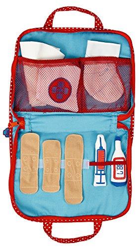Maletin de Veterinario. Set de Primeros Auxilios. Color Azul y Rojo. Coleccion Tierparade