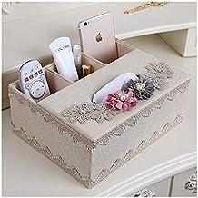 Caja de Pañuelos Sala de Estar Multifunción Control Remoto Caja de Almacenamiento Mesa de Café Caja