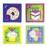 Unique Party 84769 - Regalini per Feste - Puzzle Scorrevole - Confezione da 10