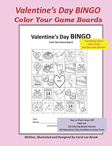 Valentine's Day BINGO: Color Your Game Boards