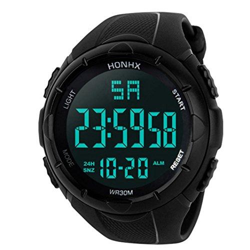 Gaddrt Luxus Herren Handgelenk Digital Armbanduhr Analog Militär Armee LED Wasserdichte Sport-Armbanduhr, Schwarz (Für Nike Sport-uhren Männer)