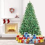 SHareconn Albero di Natale Artificiale Pino, Supporto in Metallo, Facile Montaggio + 400 LED Bianco Caldo - 228cm