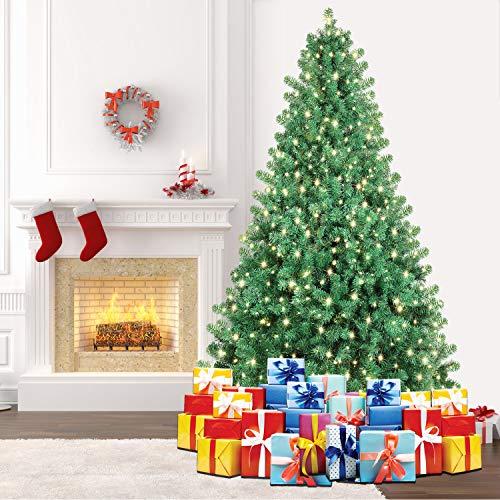 SHareconn Künstlicher Weihnachtsbaum Premium Spruce mit Stabilem Ständer und 400 Beleuchtung LED, Tannenbaum inkl. Metall Christbaum Ständer 228cm