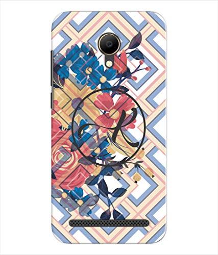 Inktree® Printed Designer Silicon Back Cover for Voto V2 - Alphabet K
