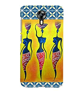 Fuson Blue Pattern Girl Back Case Cover for MICROMAX CANVAS XPRESS 2 E313 - D3901