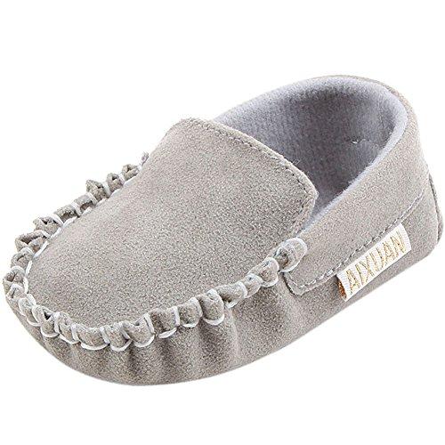 Sapatos Bebê Loafer Sapatos Fogo Barco Walker Cinza Jovens Sapo avwq7gxTY1