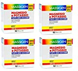 4 Confezioni Massigen Magnesio e Potassio Forte - Tripla Concentrazione - 96 Buste