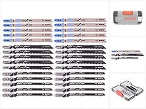 Bosch 2607010903 Set de 30 Lames de scie sauteuse wood and metal T 119 BO (10x)/T 111 C (10x)/T 118 A (10x)