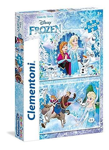 Clementoni - 24745 - Puzzle - Frozen - 2 x 20 Pièces