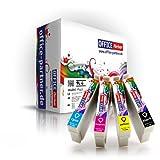 4er multiPack kompatible Druckerpatronen zu Epson T1285 mit Chip für Epson Stylus Office BX305F/BX305FW ; Stylus S22/SX125/SX130/SX235/SX235W/SX420W/SX425W/SX435W/SX440W/SX445W