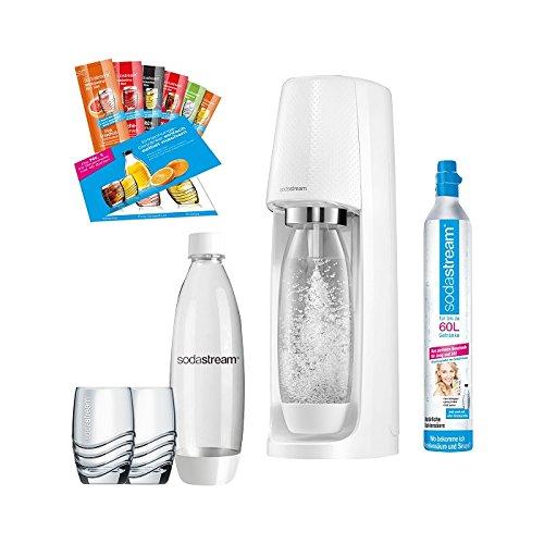 Sodastream Easy Promopack Weiß inkl. 2 PET-Flaschen, und 1 CO2-Zylinder