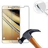Lusee® 2 x pack Protezione Schermo vetro temperato per Samsung Galaxy C5 Pro / SM-C5010 5.2 pollice Pellicola Vetro Protettivo Salvaschermo e Film protettiva ultra-duro vetro 9H