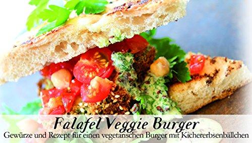 Falafel Veggie Burger – 8 Gewürze Set für den vegetarischen Burger (55g) – in einem schönen Holzkästchen – mit Rezept und Einkaufsliste – Geschenkidee für Feinschmecker von Feuer & Glas Arabische Gerichte-set