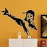 Ambiance-Live Wandtattoo Michael Jackson Schrei - 55 X 70 cm, Schwarz