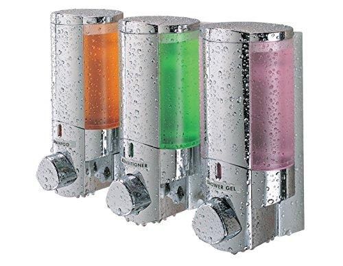 Aviva Triple Bathroom & Shower Dispenser Chrome
