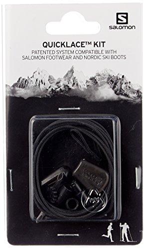 Salomon Quicklace Kit - шнурки для кроссовок и лыжных ботинок, черные