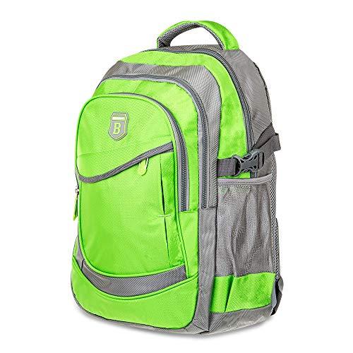 Elitar Rucksack Damen Kinder Herren Ergonomisch Backpack 25 Liter groß Organizer Handgepäck Daypack Grün