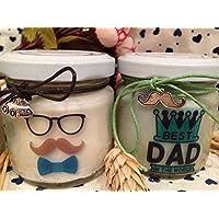 Ti voglio bene Papà 2 vasetti con candele di cera di soia e oli essenziali - Idea Regalo Festa del Papà Regalo di Natale