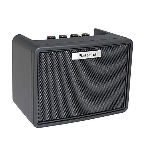 Womdee Bluetooth-Lautsprecher, Mini tragbarer Lautsprecher mit Gitarreneingang, AUX-Eingang, verstärkter Bass, MP3 Mini-Lautsprecher Bluetooth für alle Bluetooth-Geräte, schwarz
