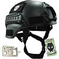MICH 2000 combate casco protector con carril lateral y montaje NVG para Airsoft caza táctico Paintball