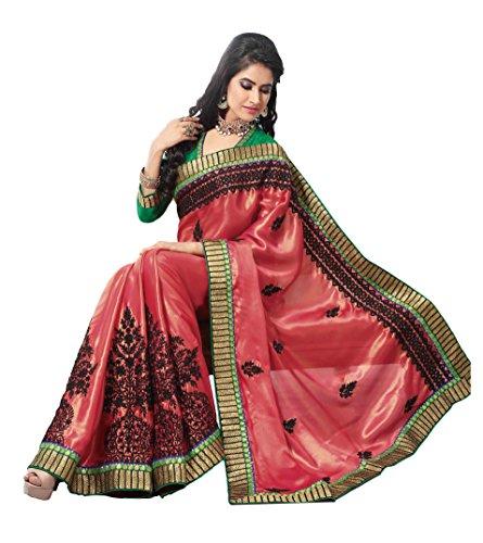 Aarti Apparels Women's New Designer Shimmer Silk