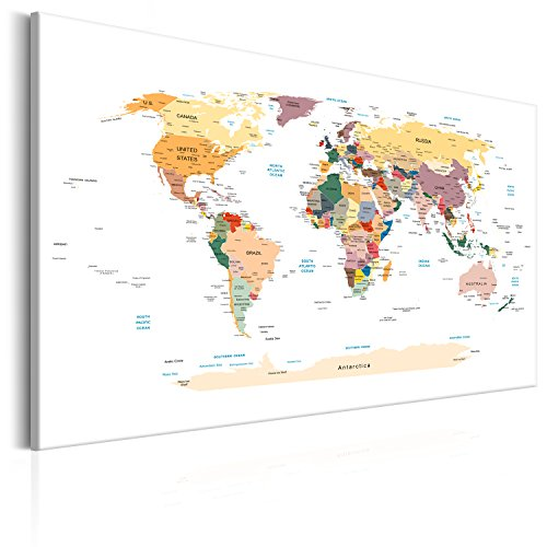 Desertcart pinboards canvas prints buy pinboards canvas prints pinboard map 120x80 cm 472 by 315 in 3 colours to choose image printed on non woven canvas with cork backing poster pin board world map gumiabroncs Images