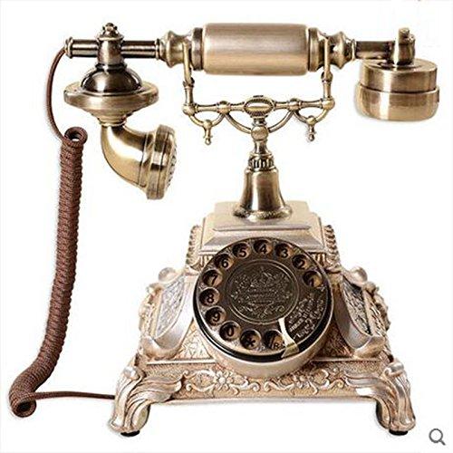 Telefon Europäische Antike Drehscheibe Klassisch Kreativ Telefon Modepersönlichkeit Altmodisches Haus Retro Telefon Verkabeltes Telefon