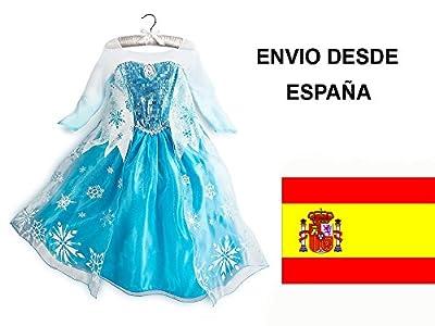 Frozen Anna Elsa Disfraz Vestido 4-8 Años. Envío rápido desde Madrid! por HOYSHO