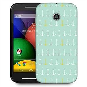 Snoogg Colourful Anchor Pattern Designer Protective Phone Back Case Cover For Motorola E2 / MOTO E22