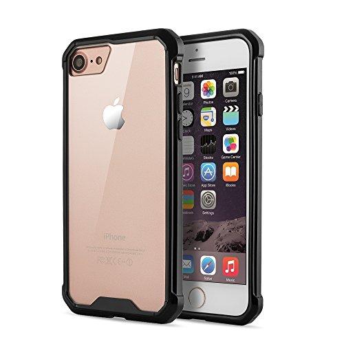VAPIAO Kantenschutzhülle Weiche Durchsichtige TPU Silikon Schutzhülle Back Cover Case für Apple iPhone 7 Plus in Transparent Schwarz