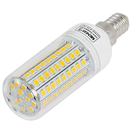 2X MENGS® E14 12W LED lampe Leuchtmittel & Birne Mais Licht 102 x 2835 SMD LEDs Mit PCB-Mantel (750LM, AC 220-240V, Warmweiß 3000K, 360º Abstrahlwinkel, Ø32×96mm) Energiespar licht - 2