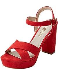 d8160cd4c Amazon.es  Sandalias Rojas - Zapatos de tacón   Zapatos para mujer ...