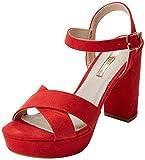 XTI 30751, Zapatos con Tacon y Correa de Tobillo Para Mujer, Rojo (Red), 41 EU