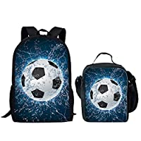HUGS IDEA Football Pattern Boy School Bookbag Children Backpack