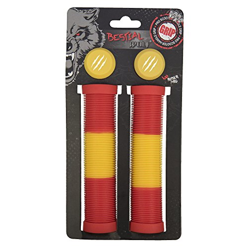 Bestial Wolf original Freestyle Scooter grips GP81F1, Flag Design, 140 mm
