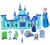 HALO NATION® Frozen Castle Dollhouse with Light Music & Accessories - Cool Castle