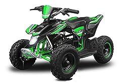 """Mini Quad Madox Premium Easy Starter 49cc 6"""" Atv Quad Children's Vehicle Children's Quad Bike Pocket - Green"""