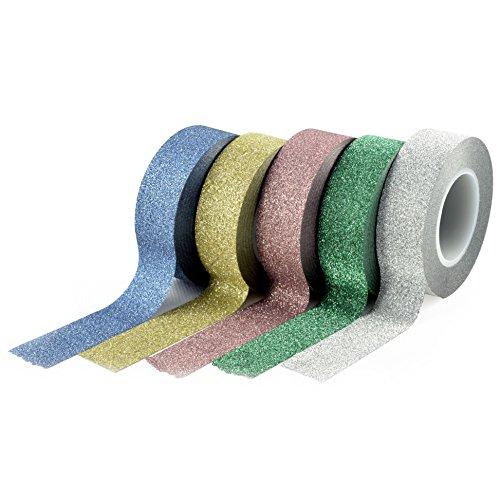nastro-adesivo-decorativo-washi-youzings-set-di-5-diversi-colori-con-glitter-nastro-adesivo-decorati
