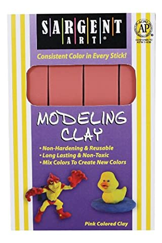 Sargent Art 22-4029 1-Pound Solid Color Modeling Clay; Pink by Sargent Art
