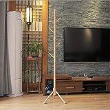 TKFY Holzmantel Stand Baum Zweig Hut und Coat Rack für Einweg Hallway Bedroom Closet Gardrobe 8 Haken 175CM Natürliches Massivholz