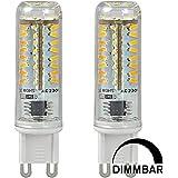 MENGS® Pack de 2 Regulable Bombilla lámpara LED 4 Watt G9, 70x 3014 SMD, Blanco Frío 6500K, AC 220-240V