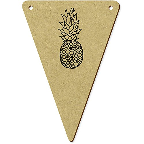 5 x 100mm 'Ananas' fanions triangles en bois (BN00009150)