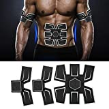 Electroestimulador Muscular Abdominales, Entrenador Muscular con USB,EMS Portátil Masajeador Eléctrico Cinturón de Abdomen/Brazo/Pierna/Cintura para Hombre/Mujer