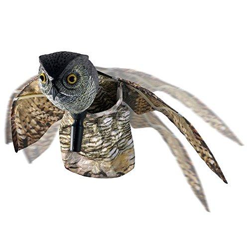 WARKHOME Hibou Anti Pigeons Hibou Anti Oiseaux Épouvantail Décoratif Épouvantail Chouette - Effraie les Oiseaux, Rongeurs, Eloigne Nuisibles