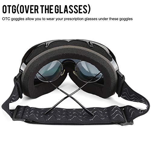 Ski Snowboard Goggles,Ski Goggles for Men Women Adult Child, Dual Lens with Anti Fog Professional Snowmobile Skate Goggles Img 4 Zoom