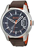 Hugo Boss Orange Hong Kong Mens Quartz Analogue Classic Brown Rubber Strap 1550002