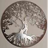 """[Sponsored]Wall Hanging Tree Of Knowledge / Tree Of Wisdom / Metal Wall Art Sculpture Wall Decor And Hanging / Home Decor / Different Concept / Size 24""""x24"""" - 2mm Thickness (Medium Size)"""