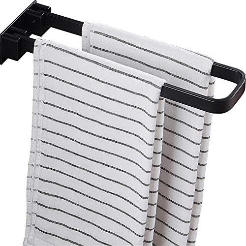 ZLDM Weltraum-Aluminium Faltbar handtuchhalter Ohne Bohren Schwarz Badezimmer Handtuchstange Wandmontage handtuchhalter Stange Für Küche Hotel Usw32.5cm(13inch)