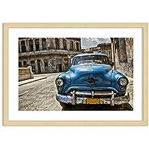 Imagen en un marco de madera de color natural - Imagen en un marco - Cuadro sobre lienzo - Impresión en lienzo - Ancho: 70cm, Altura: 50cm - Foto número 2461 - listo para colgar - en un marco - F1NAA70x50-2461